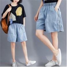 (F9014) 牛仔短褲 (大碼款)