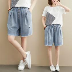 (F8860) 牛仔短褲 (大碼款)