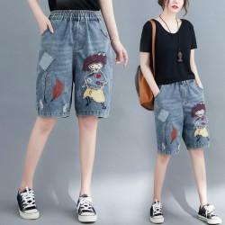 (F8861) 牛仔短褲 (大碼款)