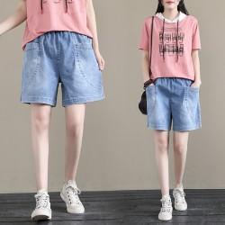 (F8866) 牛仔短褲 (大碼款)