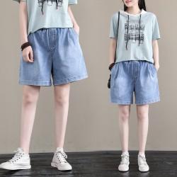 (F8867) 牛仔短褲 (大碼款)
