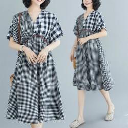 (F8869) 連身裙 (大碼款)