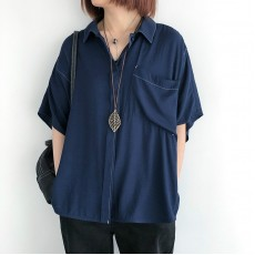 (NA2337) 簡約麻棉恤衫