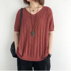 (NA2340) 簡約針織上衣