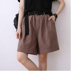 (NA2344) 簡約棉質短褲