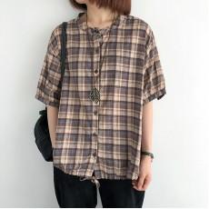 (NA2346) 簡約麻棉恤衫