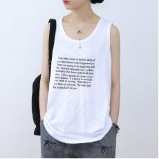 (NA2329) 簡約棉質背心上衣