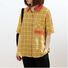 (NA2294) 簡約麻棉質恤衫