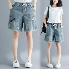 (F8562) 牛仔短褲 (大碼款)