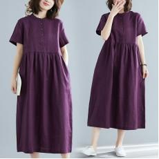 (F8582) 連身裙 (大碼款)