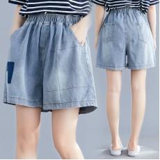 (F8589) 牛仔短褲   (大碼款)