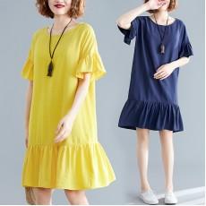 (F8550) 連身裙 (大碼款)