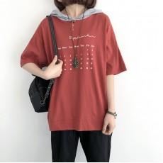 (NA2231) 簡約棉質連帽上衣