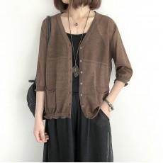 (NA2239) 簡約針織外套