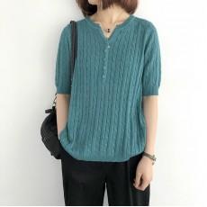 (NA2244) 簡約針織上衣