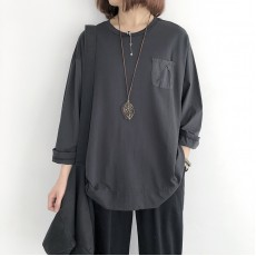 (NA2246) 簡約麻棉上衣