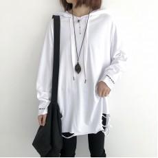 (NA2255) 簡約棉質連帽上衣