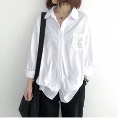 (NA2257) 簡約麻棉恤衫