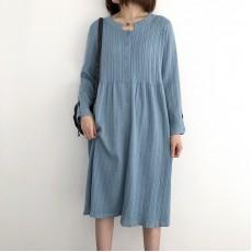 (NA2259) 簡約針織連身裙
