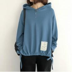 (NA2207) 簡約棉質連帽上衣