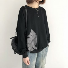 (NA2208)   貓  簡約棉質上衣