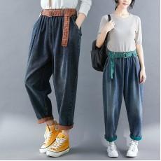 (F8405) 牛仔褲  (大碼款)