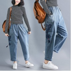 (F8417) 牛仔褲 (大碼款)
