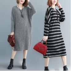 (F8428) 針織連身裙 (大碼款)