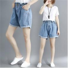 (F8430) 牛仔短褲 (大碼款)