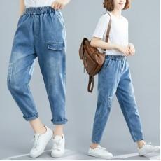 (F8442) 牛仔褲   (大碼款)