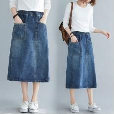 (F8379) 牛仔半身裙 (大碼款)