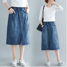 (F8380) 牛仔半身裙 (大碼款)