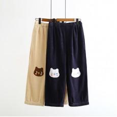 日系(WA9578) 燈芯絨長褲