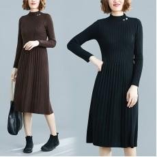 (F8327) 針織連身裙 (大碼款)