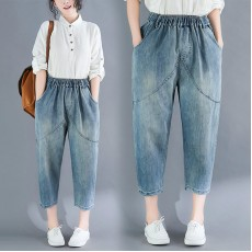 (F8355) 牛仔褲   (大碼款)