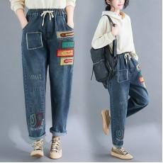 (F8356) 牛仔褲 (大碼款)