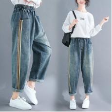 (F8357) 牛仔褲 (大碼款)