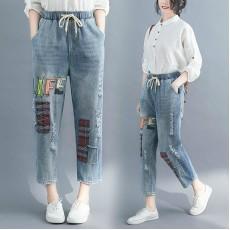 (F8304) 牛仔褲 (大碼款)