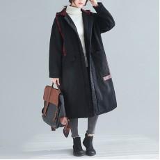 (F8311) 連帽長款外套 (大碼款)