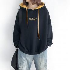 (NA2186) 簡約棉質連帽上衣