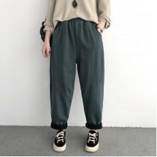 (NA2194) 簡約棉質長褲