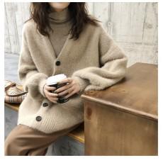 (BA1035) 仿貂絨寬鬆毛毛外套