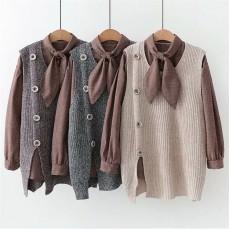 日系(WA9478) 恤衫背心兩件套