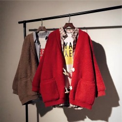 (BA1030) 牛角扣針織外套