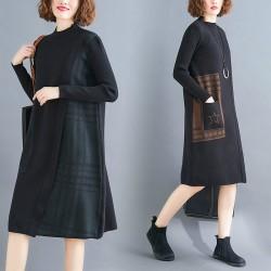(F8212) 針織連身裙 (大碼款)