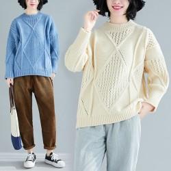 (F8213) 針織上衣 (大碼款)