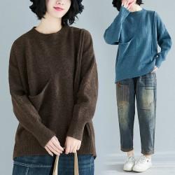 (F8214) 針織上衣 (大碼款)