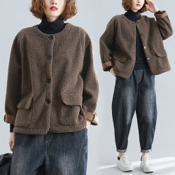 (F8225) 羊羔毛外套 (大碼款)