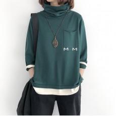 (NA2149) 簡約針織假兩件上衣