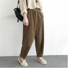 (NA2038) 簡約燈芯絨長褲